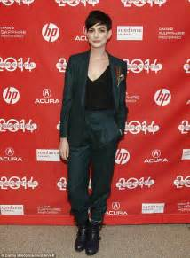 Dons Carpet by Hathaway Wears Green Trouser Suit For Sundance
