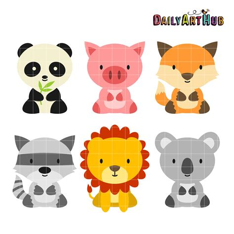 animal clipart baby animals clip set daily hub free clip