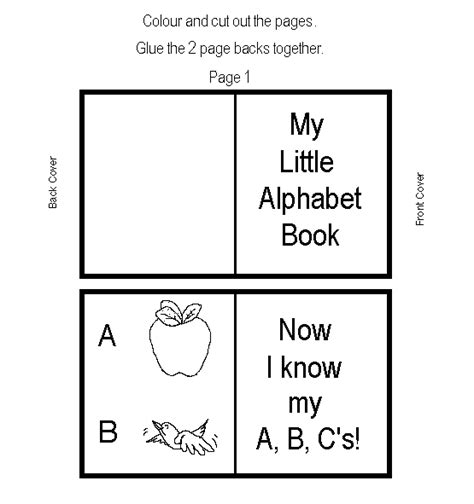 free printable alphabet book template alphabet mini book learningenglish esl