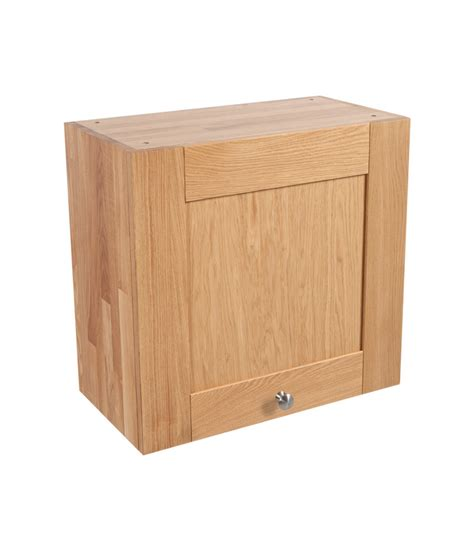 Kitchen Wall Cabinets Uk Solid Oak Kitchen Wall Cabinet H570mm X W600mm X D300mm 1 X Height Shaker Lacquered