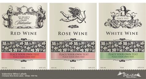 Diy Wine Labels Template Free printable wine label wine labels editable