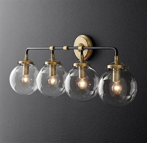 globe bathroom light fixtures bistro globe bath sconce 4 light lighting pinterest