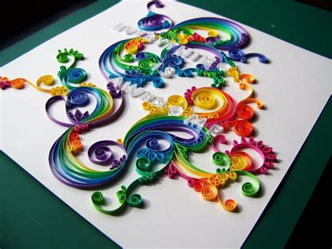 Quilling Paper Craft - all things paper more quilled lettering