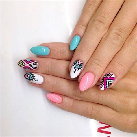 tutorial nail art aztec aztec nails easy nail ftempo