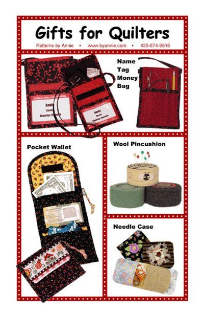 Handmade Gifts For Quilters - patterns and supplies for quilters and fabric shop