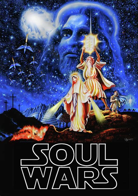 Metal Stars Wall Decor Christian Star Wars Parody Soul Wars Painting By Dave