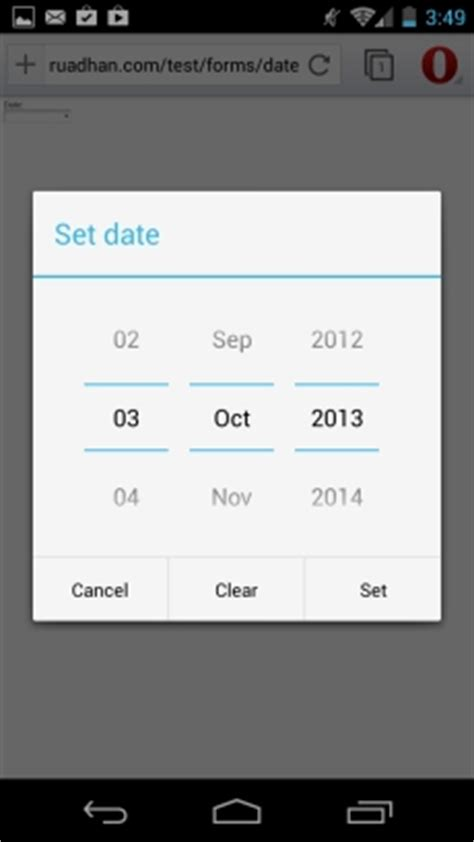 pattern html5 input date html5 for the mobile web forms and input types mobiforge