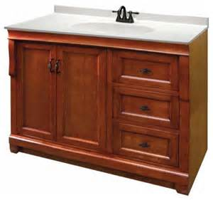 foremost naples 48 inch vanity in warm cinnamon finish