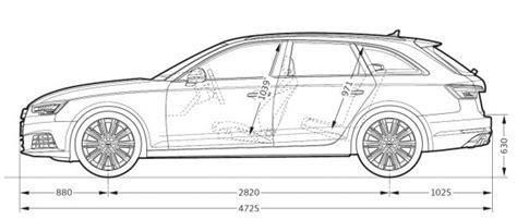 Breite Audi A4 Avant by Audi A4 Avant B9 Abmessungen Technische Daten