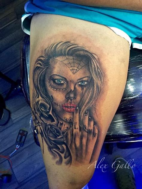 owl tattoo on leg calf by alex gallo alex gallo tattoos askideas com