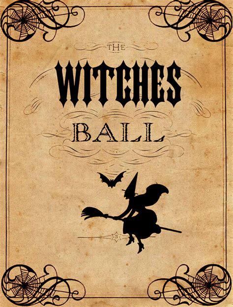 printable vintage quotes vintage halloween printable the witches ball the