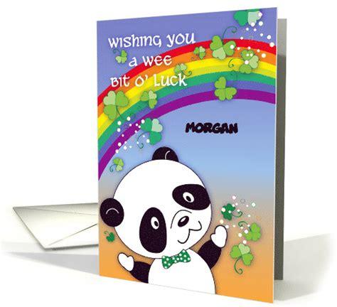 St Panda Biru Kid custom name panda st s day card 1352000