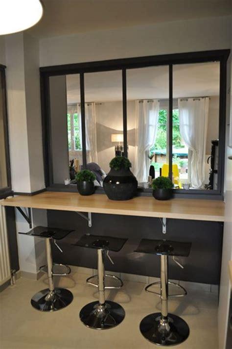 bar s駱aration cuisine salon les 25 meilleures id 233 es concernant cuisine verriere sur