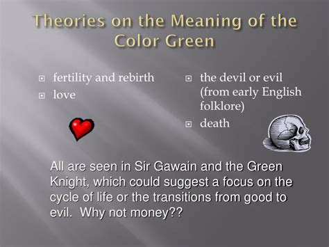 meaning of the color green ppt the author powerpoint presentation id 5067297