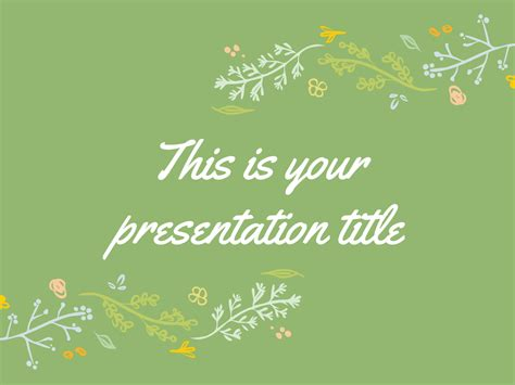 themes of slides in powerpoint free presentation template green color palette with hand