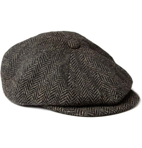 paul smith shoes accessories herringbone wool flat cap