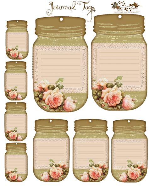 printable journal jar label free journal tags would make good name tags or detail