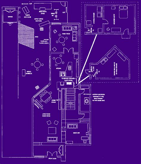 brady bunch house blueprints brady bunch house