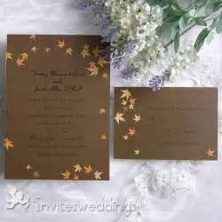 maple leave fall wedding invitation iwi090 wedding invitations invitesweddings