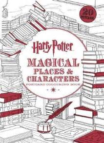 harry potter coloring book magical places harry potter magical places characters postcard