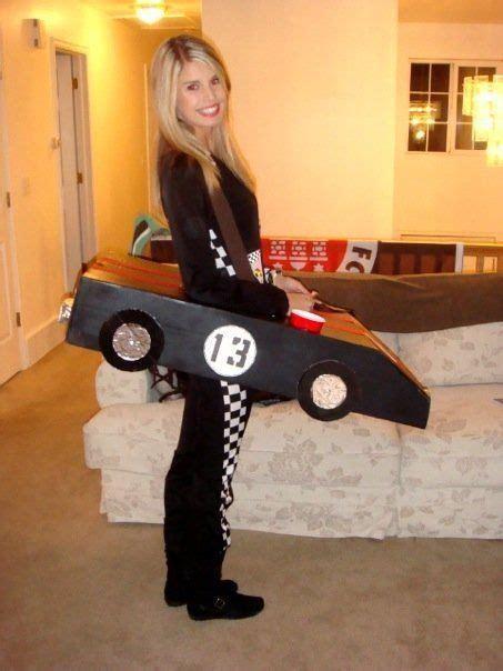 diy halloween costume race car driver  cup holder