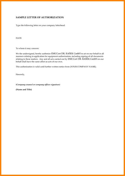 authorization letter school 8 sle authorization letter to claim money handy