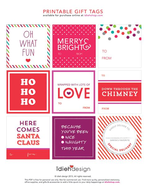 free printable gift tags tomkat studio holiday guide