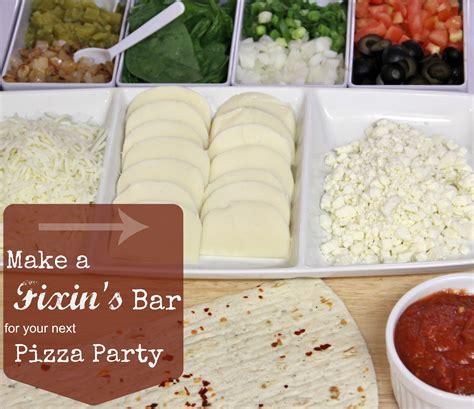 Table Pizza Bar by Pizza Fixin S Bar Ideas Around Family Table