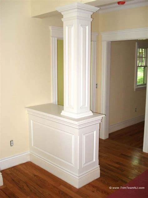 half wall with columns half wall bookcase with columns 011 half wall with