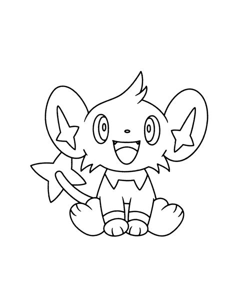 pokemon coloring pages shinx pokemon coloring page tv series coloring page picgifs com