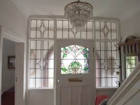 Stained Glass Front Doors Through The Window 1930s Stained Glass Door Panel With Contemporary Twist