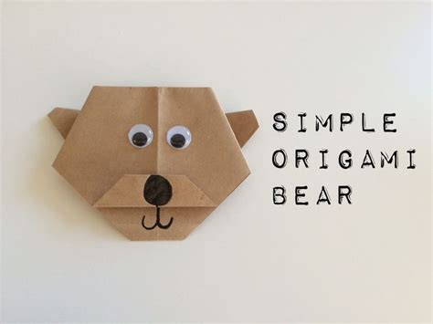Simple Origami For Preschoolers - brown brown what do you see i see a simple