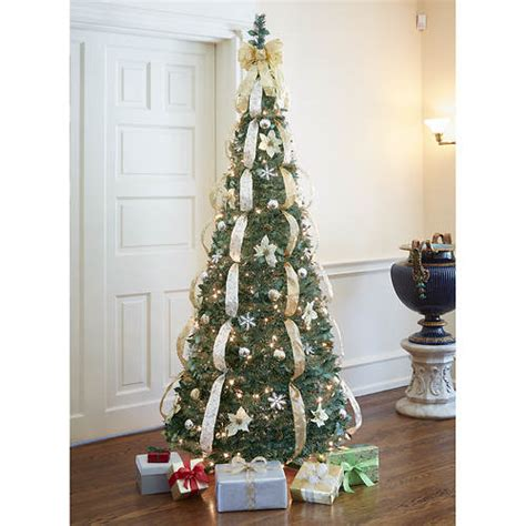 pre decorated pull up tree decorated pre lit pull up tree gold color out of stock gallery