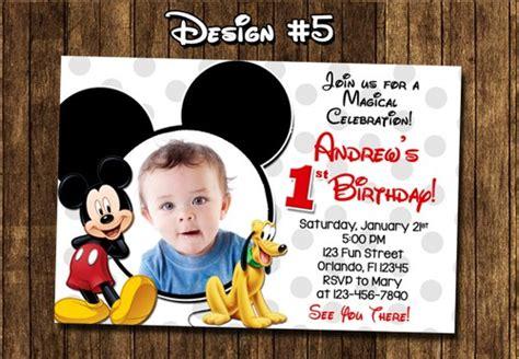 printable birthday invitations cvs mickey mouse custom first birthday party photo invitations