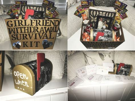 College Letter To Boyfriend withdrawal survival kit and open when letters