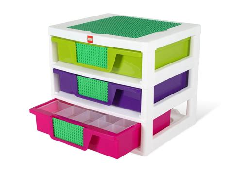 lego three drawer organizer lego 174 girls 3 drawer storage bin 5001164 bricks and more