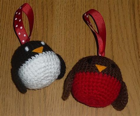 pattern for christmas robin robin and penguin christmas decorations by clairesibley