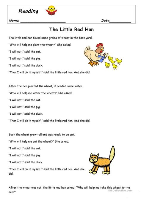 The Hen Worksheets Free by The Hen Worksheet Free Esl Printable