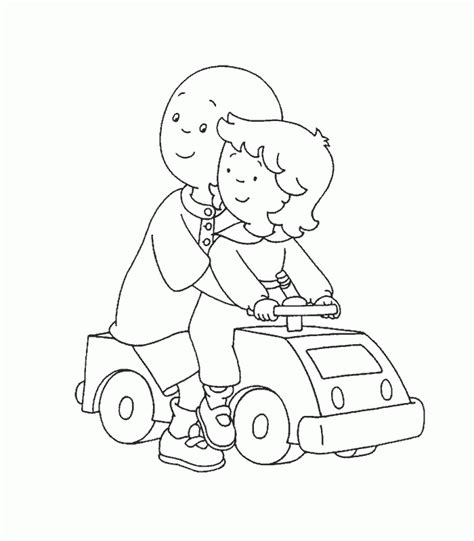 caillou cartoon coloring pages