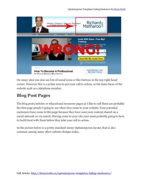 optimizepress template optimizepress templates are failing marketers