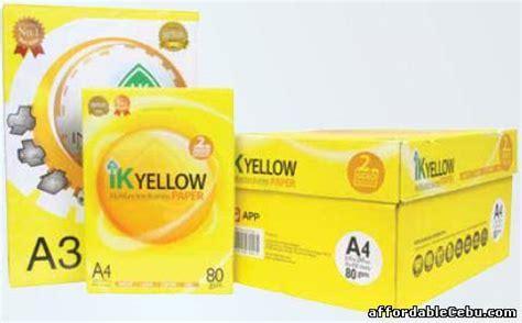 Kertas Inkjet Photo Single Side Inx ik yellow a4 copy paper 80gsm 75gsm 70gsm for sale balamban cebu philippines 31724
