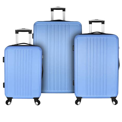 light blue luggage sets elite luggage versatile 3 hardside spinner luggage
