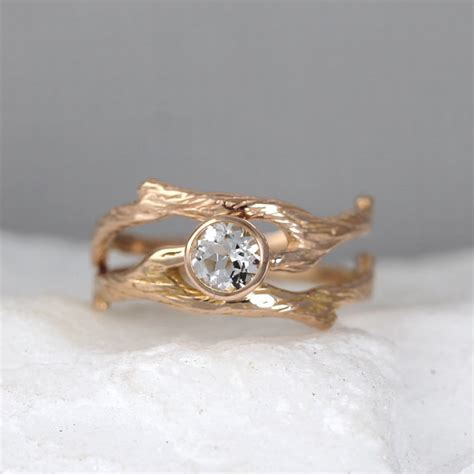 twig ring on pinterest branch ring twig engagement branch style engagement ring and wedding band set twig rings