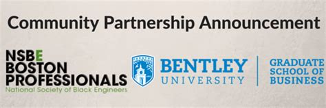Bentley Mba Scholarship by Announcement Nsbe Boston Adds Bentley As A
