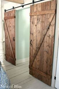 how to build sliding barn door diy barn doors nest of bliss