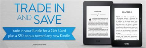 Trade Gift Cards For Amazon Credit - amazon trade in your old kindle for amazon gift card get a 20 credit towards a