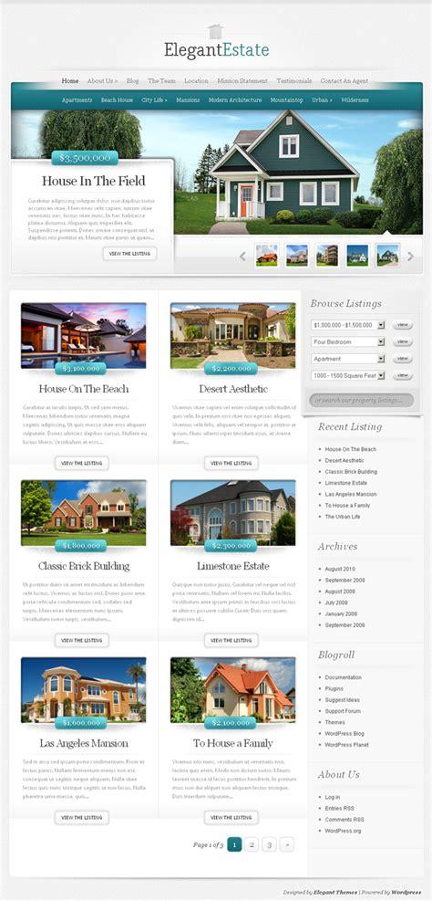 elegant themes idx 45 best professional real estate wordpress themes