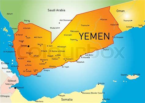 africa map yemen vector color map of yemen stock vector colourbox