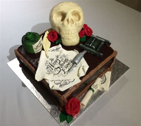 tattoo gun birthday cake 54 best images about goth cakes on pinterest tattoo cake