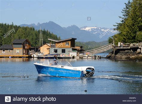 motorboat vancouver vancouver island tofino motorboat passing in front of